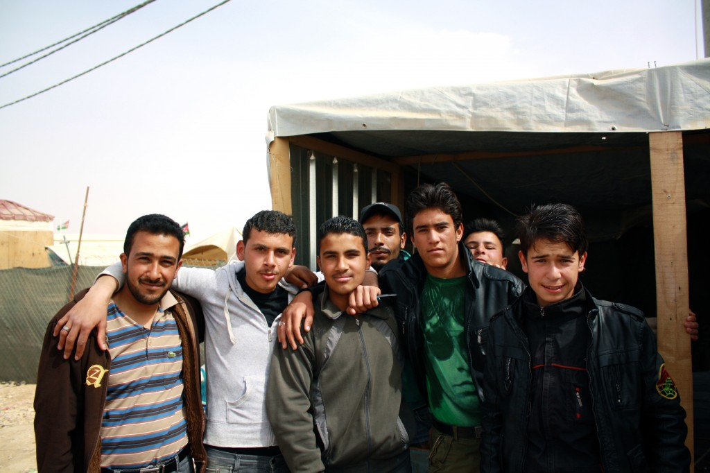 Residents of Zaatari