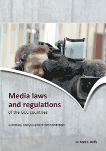 Cover of Matt Duffy report on Media laws and regs of GCC countries
