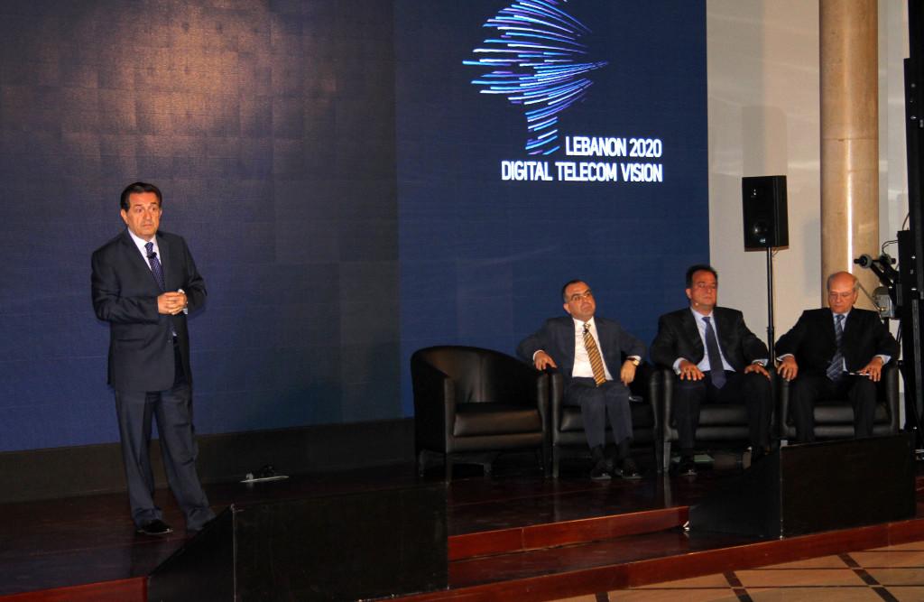 الوزير حرب في انطلاق مشروع لبنان 2020 الصورة من موقع الوكالة الوطنية للأخبار