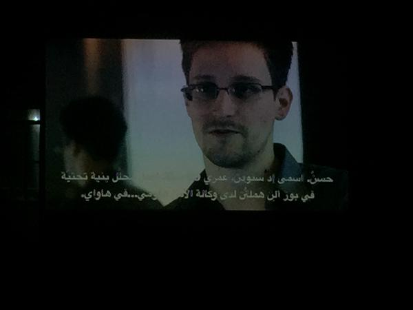 SMEX and Ashkal Alwan hosted a screening of Laura Poitras documentary of Edward Snowden (Beirut, 10.Oct.2015)